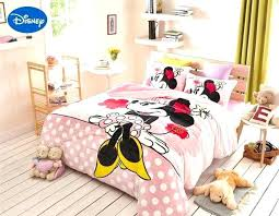 mickey and minnie kissing bedding bedspread pink mouse flannel bed sheet set queen full comforter qu mickey and minnie mouse bedding