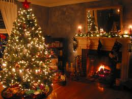 Living Room Christmas Decorations Cute Christmas Decorated Living Rooms Brick Fireplace Decorating