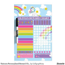 Unicorn Star Chart Unicorn Personalized Reward Chore Potty Chart Dry Erase