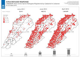 Document Map Time Series Of Syrian Refugees Registered In Lebanon