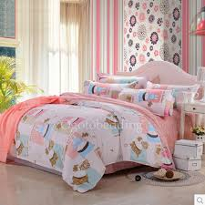 peach pink patterned hippie textured cotton teen bedding sets