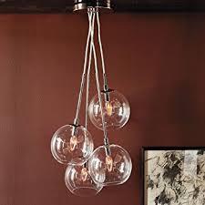 LightInTheBox 60W Artistic Modern Pendant with 4 Lights in Glass Bubble Design  Modern Home Ceiling Light