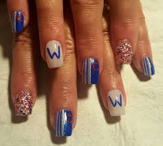 Chicago Cubs | Nails by Becky.... | Pinterest | Chicago cubs ...