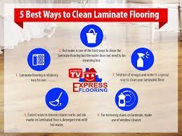 5 best way to clean laminate flooring infogrpahic