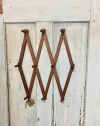 Expandable Wooden Coat Rack Large Vintage Wooden Accordion Wall Peg Rack Expandable Wooden Coat 29