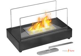 ventless tabletop bio ethanol fireplace in black