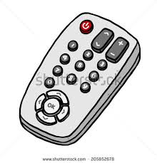 tv remote clipart black and white. tv remote / cartoon vector and illustration, hand drawn style, isolated on white background tv clipart black r
