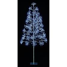 Blossom Christmas Tree With Led Lights Premier Decorations 1 5m Silver Blossom Tree With 576 Bright White Led