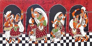 folk rs of india batik painting on cotton cloth