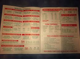 pizza factory rutland menu