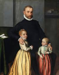 portrait of a gentleman and his two children giovan battista moroni before 1524 1578