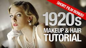 hair and makeup tutorial 1920 s