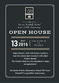 Open House Invite Work Alumni Open House Invitation
