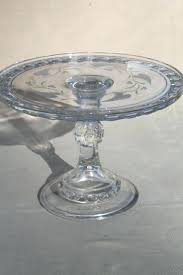 antique pressed pattern glass wedding cake stand pedestal plate vintage stands uk la