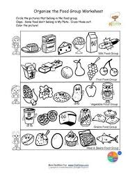 Small Picture Printable Color and Sorting Food Groups Mai