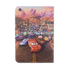 Cartoon Film Cars Flip Stand <b>PU Leather Tablet Cover Case</b> For ...