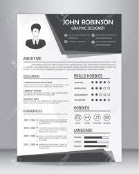 How To Layout Resume Job Resume Or Cv Template Layout Template In A4 Size Vector