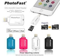 photofast mfi cr 8800 sd microsd lightning card reader for apple iphone 6 ipad