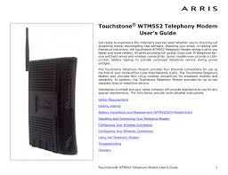 Arris Modem Ds Us Lights Blinking Arris Touchstone Wtm552 User S Guide Manualzz Com