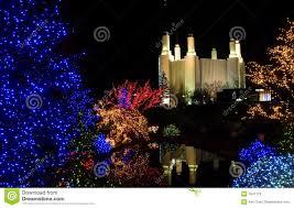 Mormon Tabernacle Washington Dc Christmas Lights Christmas At Mormon Temple Stock Image Image Of