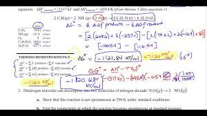 ap chemistry non standard gibbs free energy worksheet review