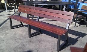 outdoor furniture custom made jarrah timber steel frame bench seat jarrah slats