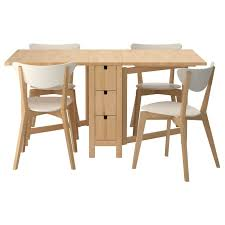Furniture. Unfinished Maple Wood Expandable Storage Dining Table Combined  With Arm Chairs Using White Leather T