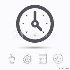 Clock Icon Mechanical Watch Symbol Stopwatch Timer Hand