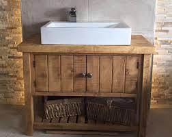 cheap bathroom sink vanity. rustic chunky solid wood bathroom sink vanity unit*handmade to order cheap