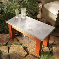 awesome plans for diy patio furniture the family handyman outdoor end table covers polished concrete top