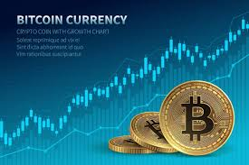 Bitcoin Currency Crypto Coin With Growth Chart