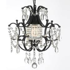 versailles 1 light black mini chandelier with crystal
