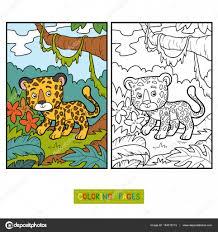 coloring book for children jaguar vector by ksenya savva