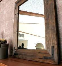 wood framed bathroom mirrors. Wood Framed Mirrors Wooden Frame Mirror Bathroom Reclaimed Rustic Industrial And R