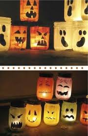 Freegle Old jars, paper, paint, candles.all you need for some halloween  table lights