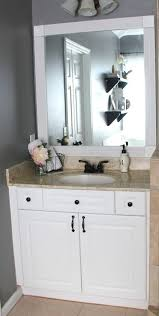 mirror bathroom best 25 builder grade ideas on pinterest update kitchen