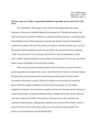 war essay thesis cold war essay thesis