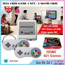 Máy chơi game điện tử 4 nút 621 trò hai người chơi, kết nối HDMI Ti vi đời  mới - Phụ kiện Gaming