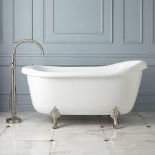 anelle acrylic slipper clawfoot whirlpool tub  bathroom