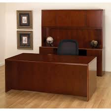 wooden office table. Executive Office Desk Suite In Dark Cherry Wood Wooden Table