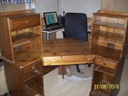 wooden corner desk. Image Is Loading Large-wooden-corner-desk Wooden Corner Desk E