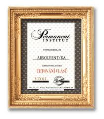 Kurz Tetovani Vlasu Certifikat Permanent Institut