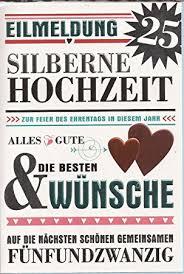 Horn Hochzeitskarte Silberhochzeit Moderne Schrift 711004