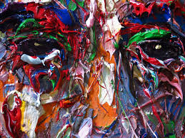 Crazy Painting Original Oil Painting On Stretched Canvas For Sale X854 Impasto