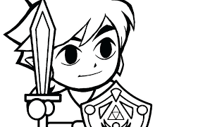 The Legend Of Zelda Link Coloring Pages Link Coloring Pages To Print