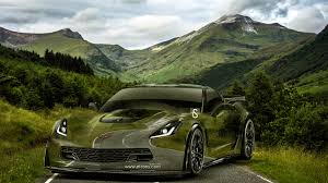 chevrolet corvette z crystal nature road car