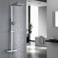 Homelody Duschsystem Mit Thermostat Duscharmatur Eckig Regendusche Duschset Dusche Inkl Handbrause