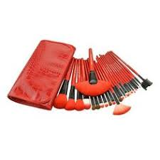 24 piece royal red makeup brushes with case 20 available at nomorerack