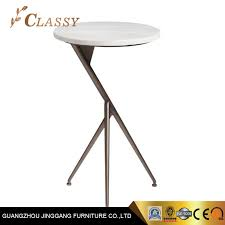 china metal sofa side table with marble