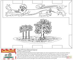 Small Picture Flag of Prince Edward Island coloring page Free Printable
